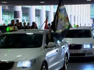 Arranca la huelga de taxis en Barcelona