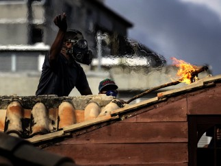 Choques violentos durante la huelga de Venezuela