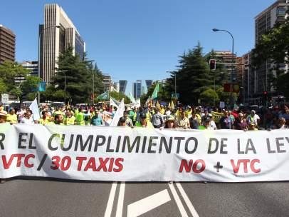 Manifestación taxistas en Madrid
