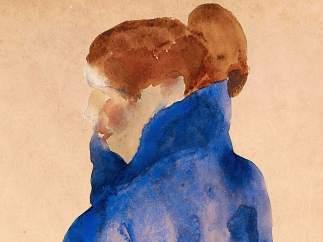 Frau in einem blauen Kleid (Mujer con vestido azul), 1911