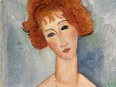 La Rousse au pendentif (La pelirroja con el colgante), 1918