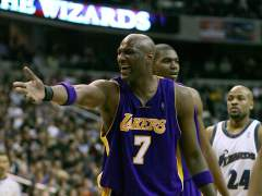 Lamar Odom, con los Lakers