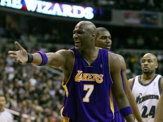 Lamar Odom, con los Lakers