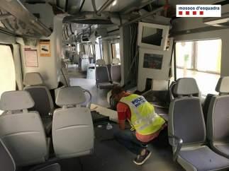 Así ha quedado el interior del tren