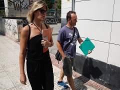 El exmarido de Juana Rivas y padre de los dos menores, en Maracena (Granada)
