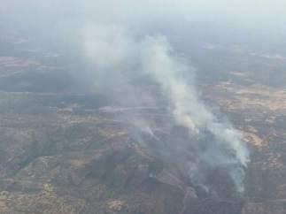 Incendio en la Sierra Norte de Sevilla.