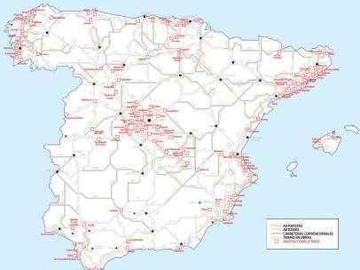 Mapa puntos conflictivos carreteras