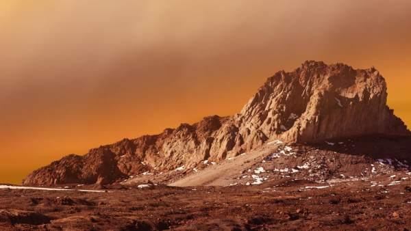 El planeta rojo, Marte.