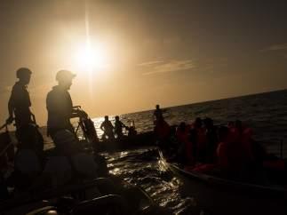 Operación de rescate en el Mediterráneo de MSF y SOS Mediterraneo