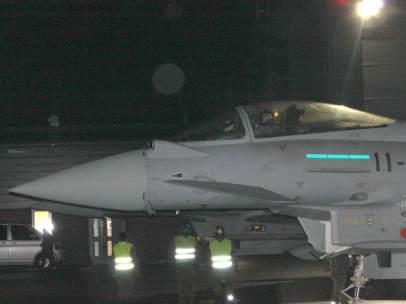 Un caza Eurofighter español, en misión en el Báltico