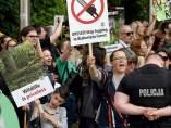 Protestas en Polonia contra la tala en el bosque Bialowieza