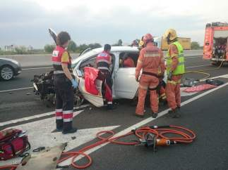 Accidente en Sagunto