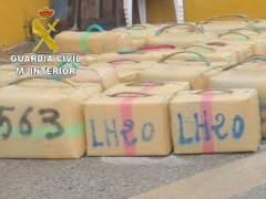 Kilos de hachís intervenidos en una operación contra el narcotráfico