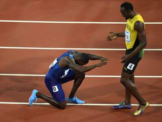 Reverencia de Gatlin a Bolt