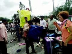 Detenido el conductor que chocó con un bus de españoles en la India
