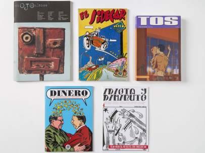Algunos de los fanzines incluidos en 'Fanzination! Los fanzines de cómic en España'