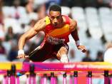 Orlando Ortega, en los Mundiales de Atletismo de Londres 2017