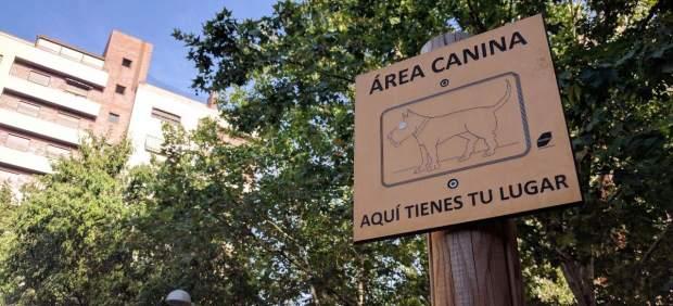 Imagen de una de las áreas caninas en Madrid