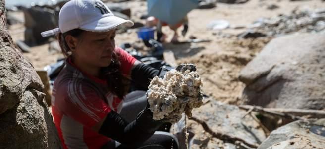 Vertido de aceite de palma en China