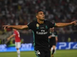 Casemiro celebra su gol