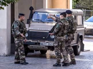 Atropello, París, Policía