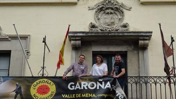 Burgos.- Javier Mardones, Lorena Torreros y David Sáinz-Aja.