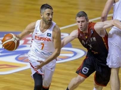 Juan Carlos Navarro ante Bélgica