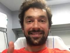 Sergio Llull, tras lesionarse la rodilla