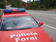 Vehículo De La Policía Foral.