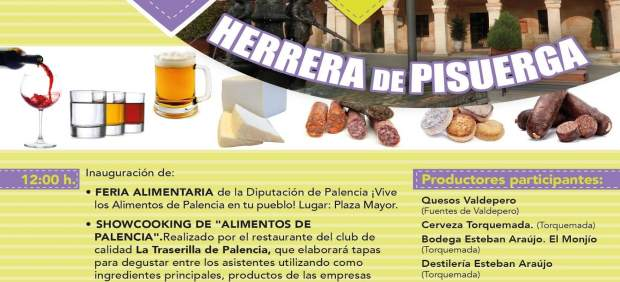 Cartal de la feria en Herrera de Pisuerga.