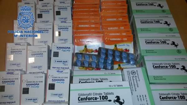 Una persona detenida por vender medicamentos contra la disfunción eréctil