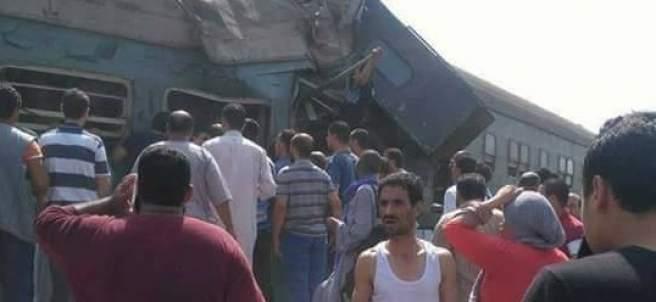 Imágenes del accidente de trenes en Egipto
