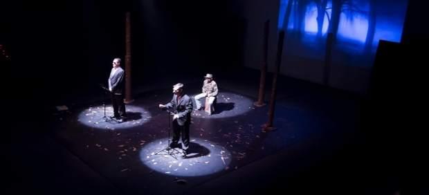 Imagen tomada durante la representación de Despiadados