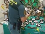 Trofeos de caza furtiva intervenidos en la Operación Aspicientis