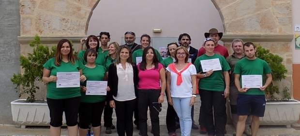 Alumnos del taller de empleo Turismo Comárcate en Acción.
