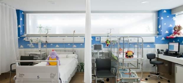 Camas infantiles en un hospital valenciano