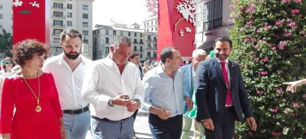 Carnero en feria de Málaga consejero ruiz espejo dani perez mariano visita