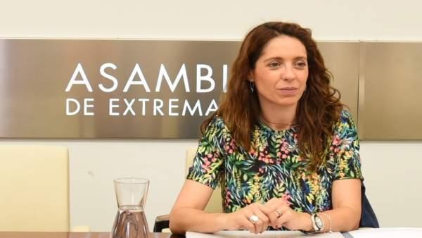 La diputada del PP Virginia Alberdi