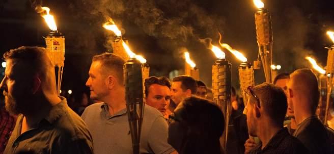 Manifestación de supremacistas blancos