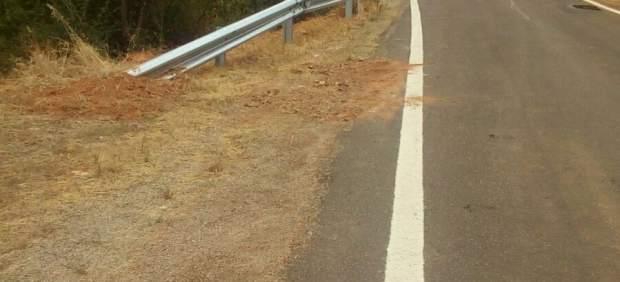 El Gobierno de Aragón mejora la seguridad en la A-1509 entre Codos y Aguarón.
