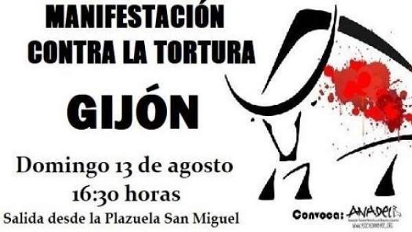 Manifestación Gijón antitaurina