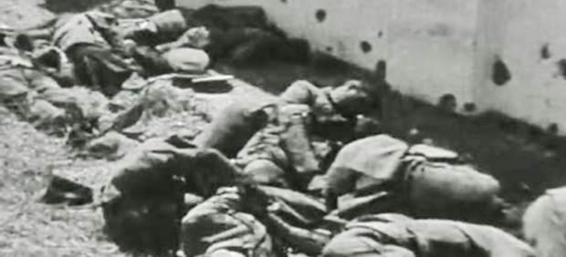 Fusilados durante la 'matanza de Badajoz' en agosto de 1936