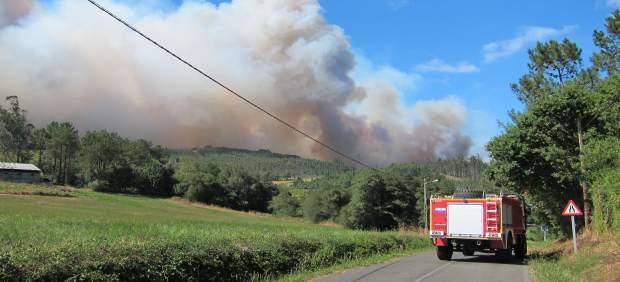Incendio en Santiago de Compostela