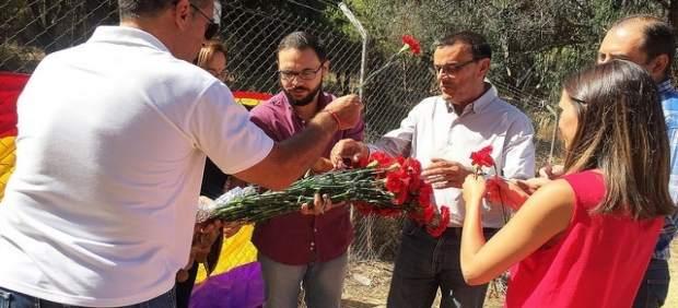 Ignacio Caraballo en un acto de homenaje a las víctimas del franquismo
