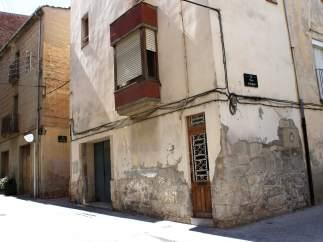 Torre medieval te Tàrrega (Lleida) cubierta de rebozado