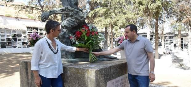 Ruiz Espejo durante el acto de homenaje a víctimas del franquismo