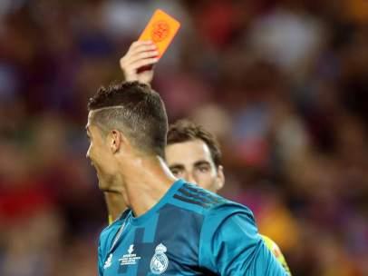 Cristiano Ronaldo, expulsado en la Supercopa