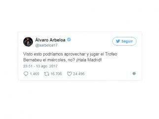 Arbeloa, en Twitter