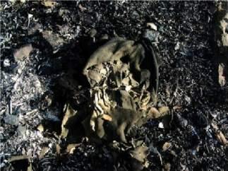 Restos textiles incendio