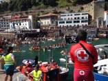 Abordaje de Donostiako Piratak en el puerto